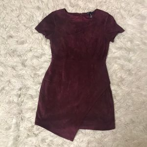 Aqua maroon dress
